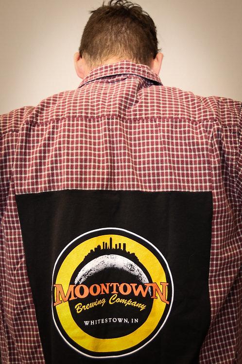 Black Moontown Logo Flannel