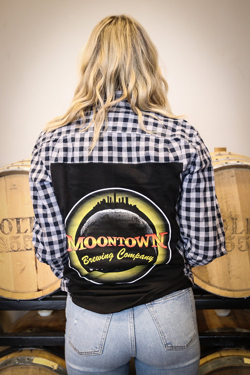Black Moontown Logo Flannel
