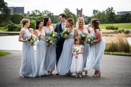 Blue Bridesmaid