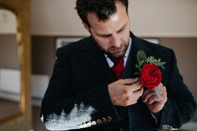 Red Buttonhole Ellingham Hall