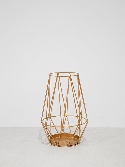 Copper Geometric Lantern