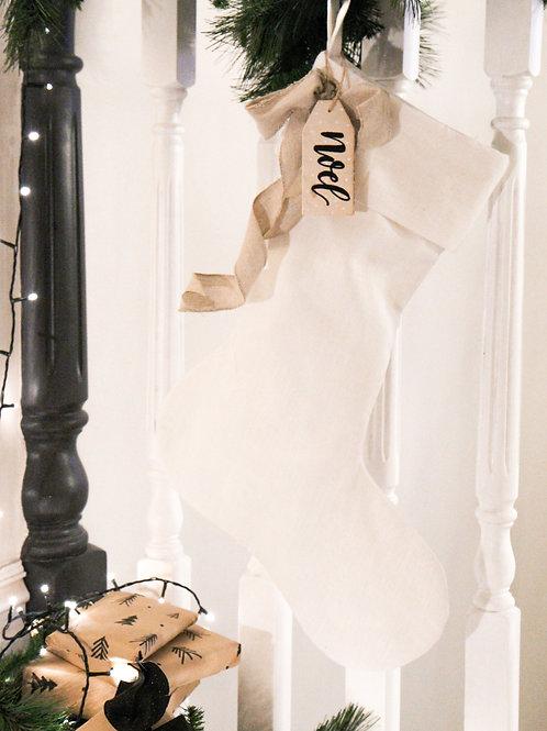 Natural Linen Stocking