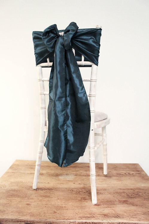 Teal Taffeta Chair Bow