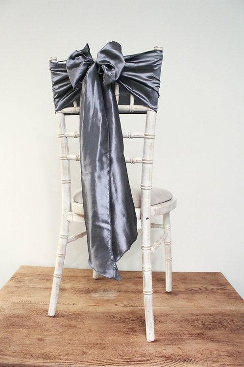 Grey Taffeta Chair Bow