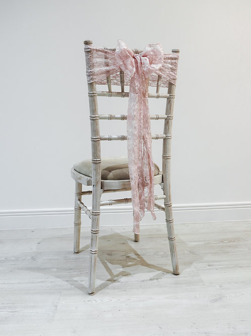 Pink Lace Chair Bow