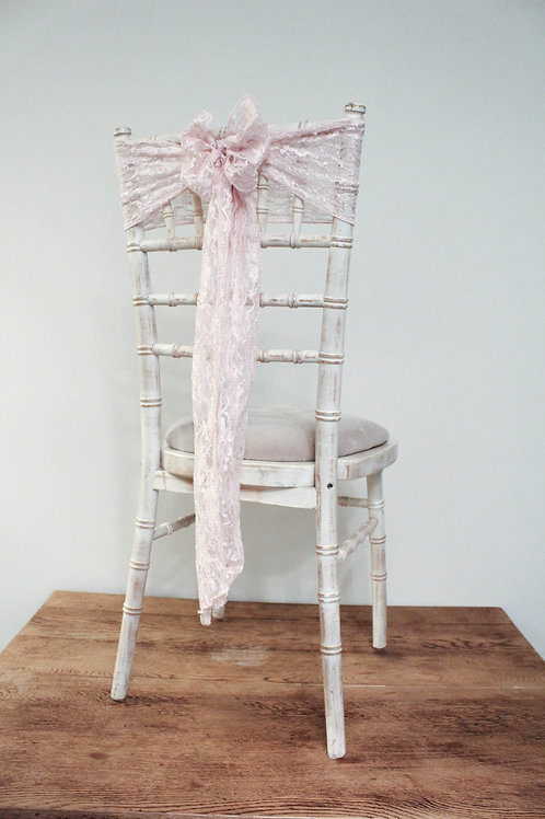 Blush Lace Chair Bow