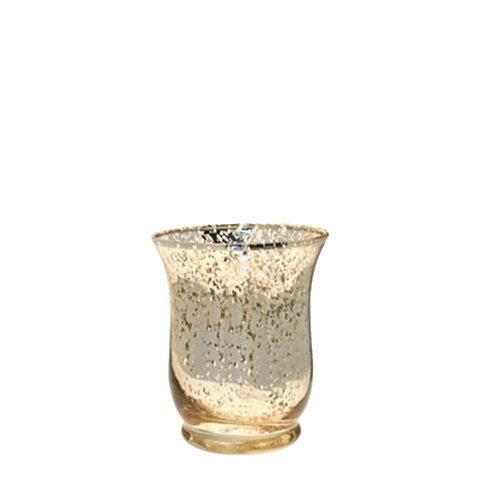 Gold Hurricane Vase - Small
