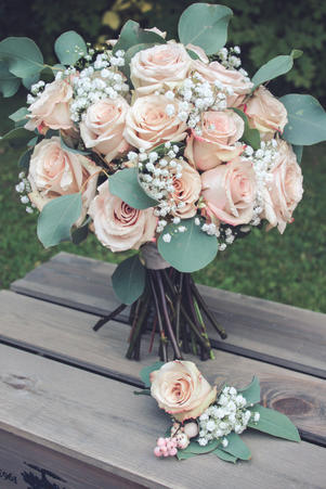 Pink Domed Bouquet