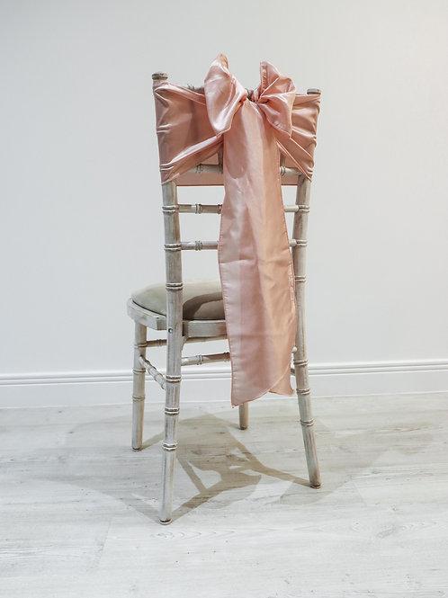 Peach Taffeta Chair Bow