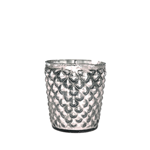 Silver Bobbled Tealight