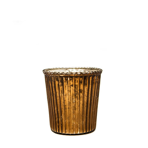 Bronzed Ribbed Tealight