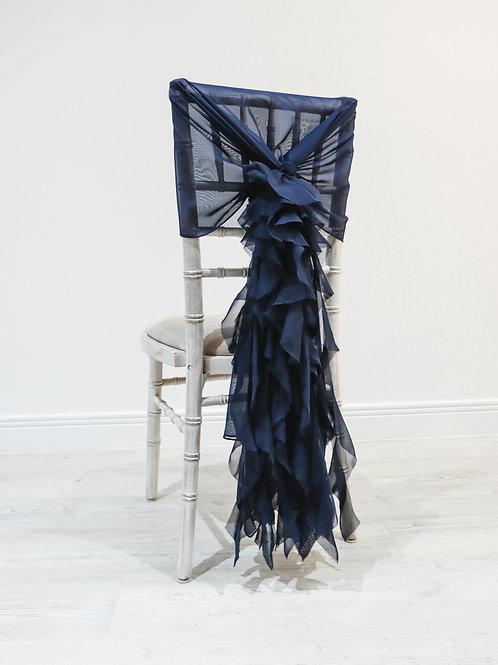 Navy Waterfall Chair Backs