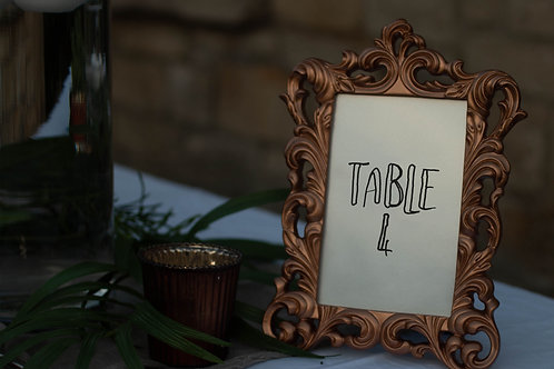 Table Numbers - Handwritten