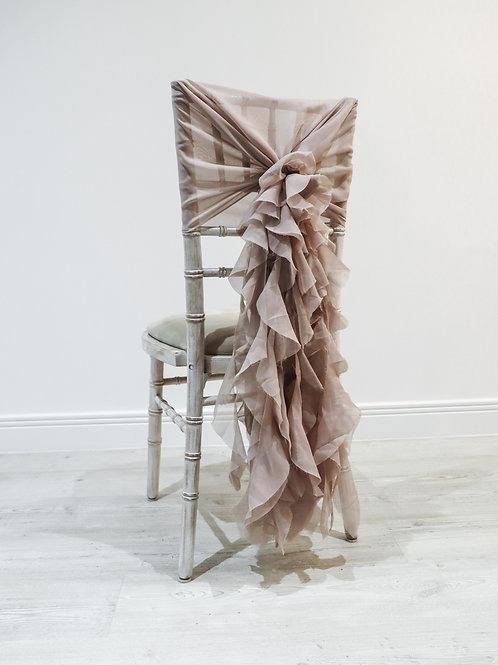Dusky Pink Waterfall Chair Backs