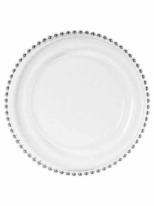 Glass Beaded Charger Plates