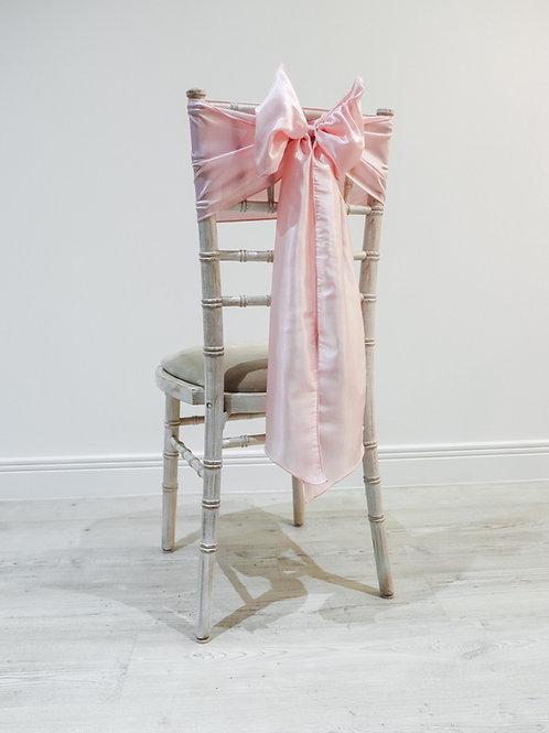 Pink Taffeta Chair Bow