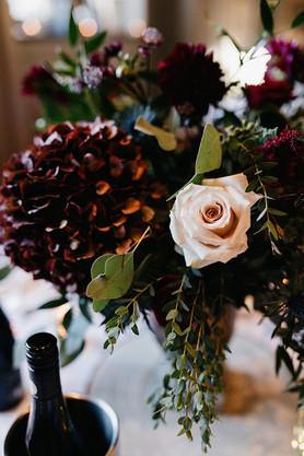 Burgundy and Blush Wedding Flowers