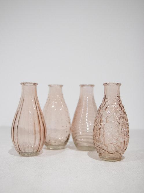 Blush Glass Stem Vase