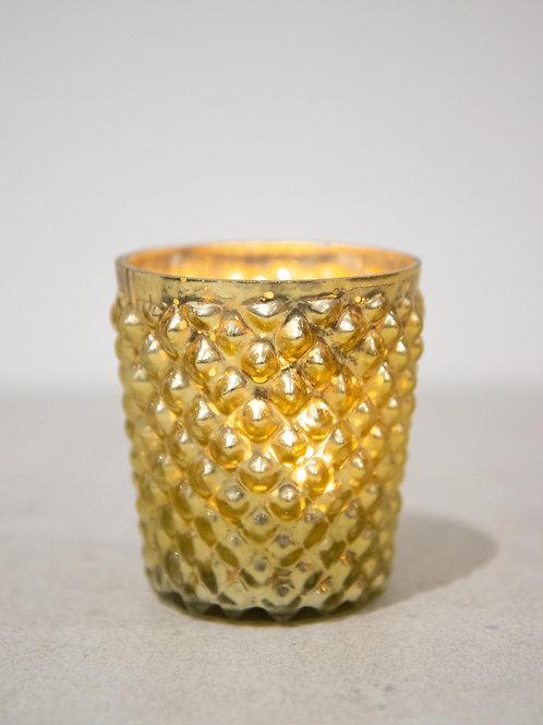 Golden Bobbled Tealight