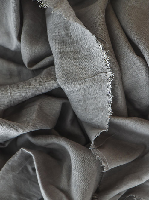 Pewter Grey Linen Runner