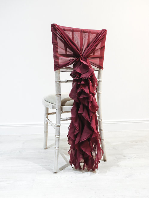 Burgundy Waterfall Chair Backs