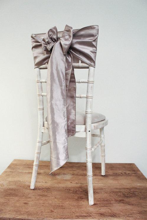 Wheat Taffeta Chair Bow