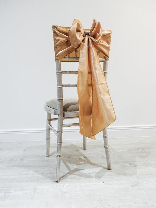 Gold Taffeta Chair Bow
