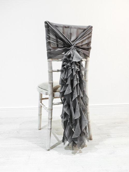 Pewter Grey Waterfall Chair Backs