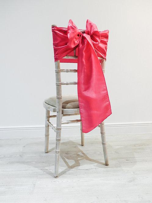 Fuchsia Taffeta Chair Bow