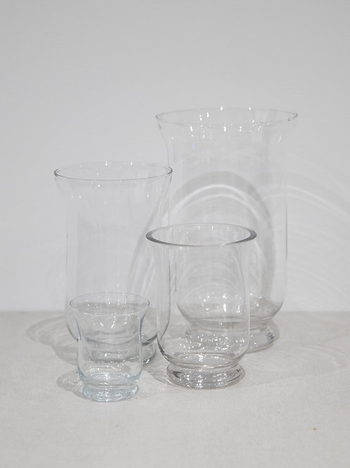 Glass Hurricane Vase (XS-L)