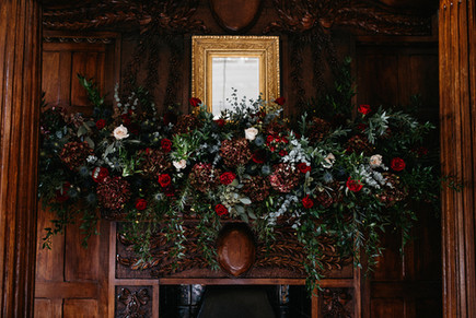 Fireplace Flowers Ellingham Hall