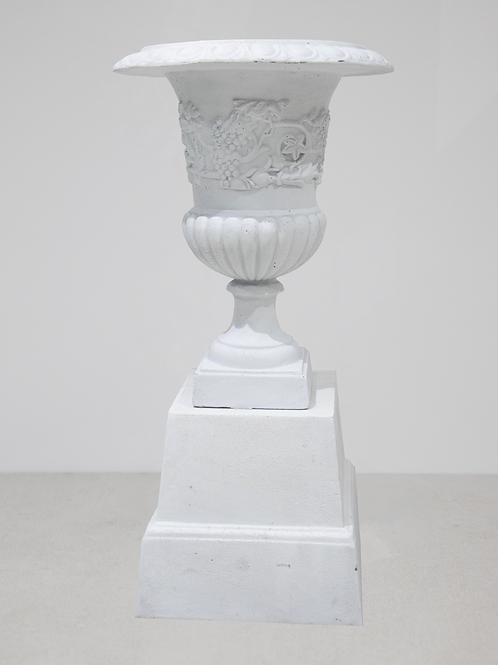 White Urn & Pedestal