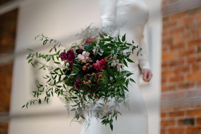 Burgundy Florals