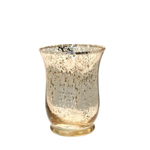 Gold Hurricane Vase - Medium