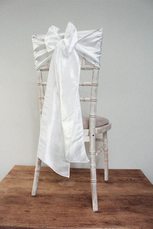 White Taffeta Chair Bow