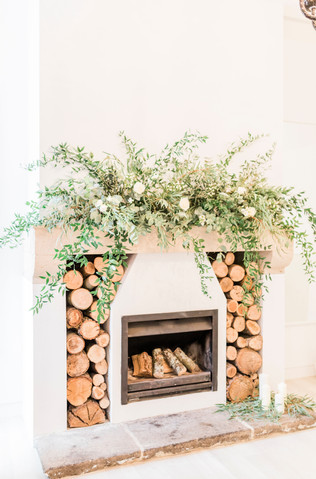 Wild Fireplace Wedding