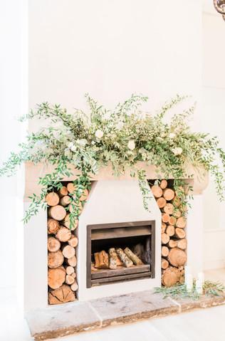 Wild Fireplace Wedding