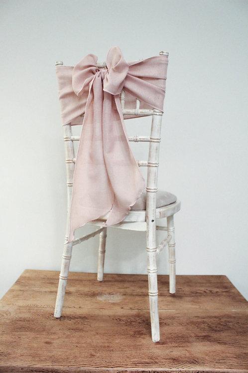 Blush Linen Chair Sash