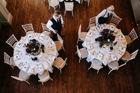 Table Centrepieces Ellingham Hall