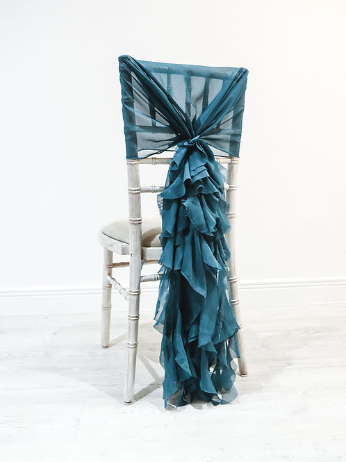 Teal Waterfall Chair Backs
