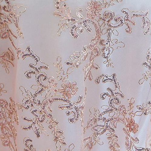 Pink Sequin Lace Tablecloth