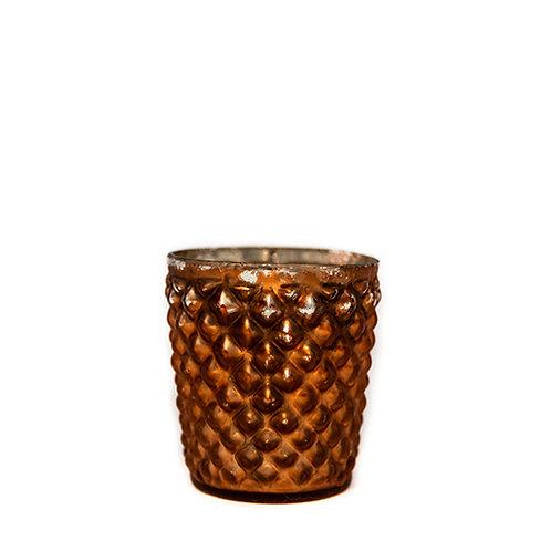Copper Bobbled Tealight