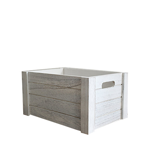 Limewashed Crate - Small