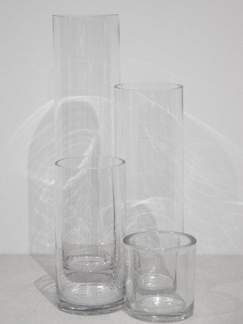 Glass Cylinder Vase (XS-L)
