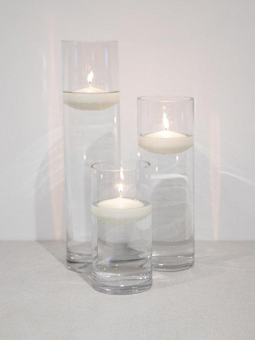Cylinder Vase Trio - Floating Candles