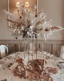 Dried Wedding Flower Centrepiece
