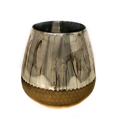 Mercury Vase with Matt Gold Textured Base