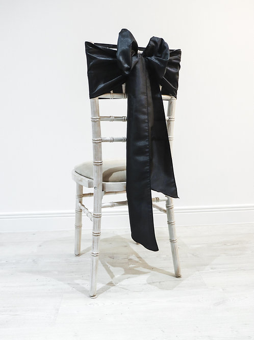 Black Taffeta Chair Bow