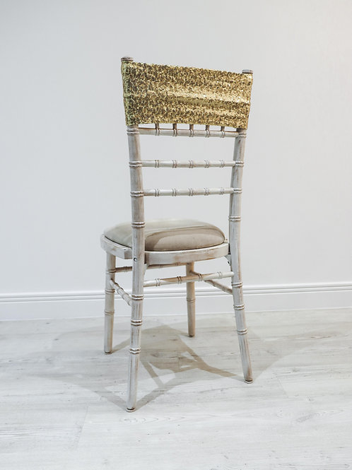 Gold Sequin Chair Band