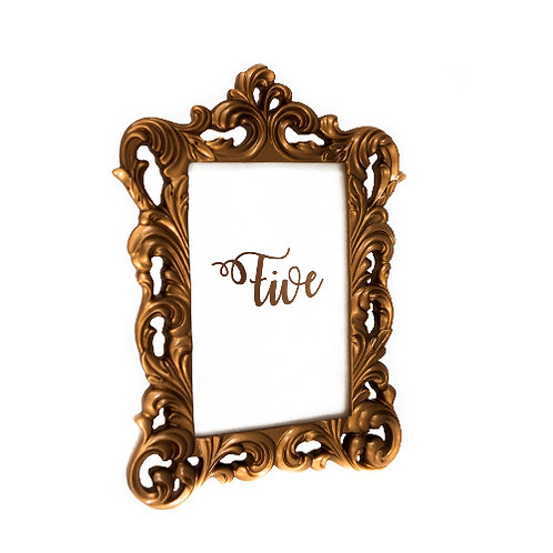 Copper Ornate Frames